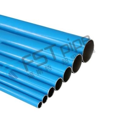 Blue Rigid Aluminum Pipe