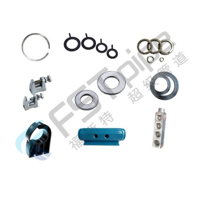 Manifold and gasket for compressed piping fittings